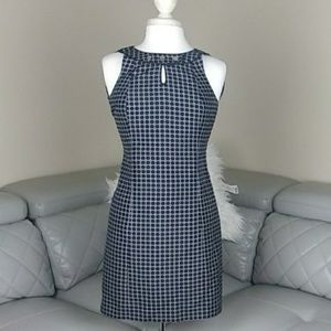 ANN TAYLOR BLUE  SILK DRESS 2P